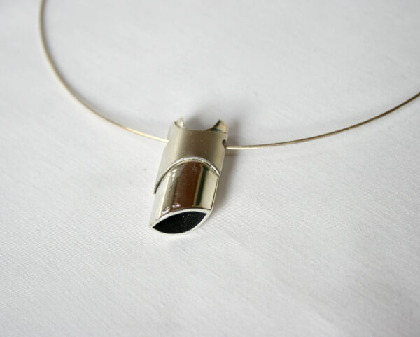 2 Sided, Silver pendant, Jewellery, Highend, Goldsmith, Jeweller, Contemporary, Design, Sligo, Ireland, Irish, Design,