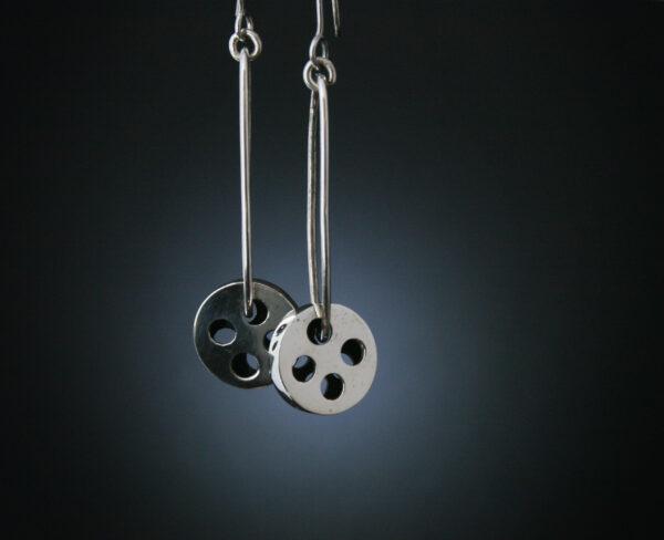 Silver, Earrings, Jewellery, Buttons, Silver bottons, Highend, Jewellery, Design, Goldsmith, Sligosmith, Sligo Ireland, Irish, Jeweller, Designer