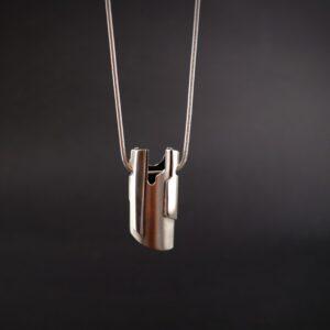 Silver pendant, double sided, Tiffany Budd