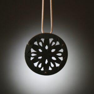 Oxidizefd silver, pendant, tiffany budd, Goldsmith, Sligo, Ireland, Jewellery